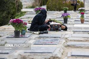 فیلم/ وضعیت بهشت زهرا(س) در جمعه آخر سال