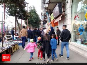 شلوغی بازار و خیابانهای رشت