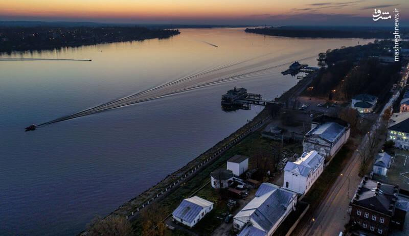 رودخانه ولگا در روسیه