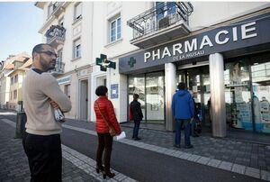 عکس/ صف مقابل داروخانه در بلژیک
