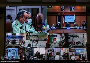 عکس/ جلسه ویدئو کنفرانسی نیروی انتظامی