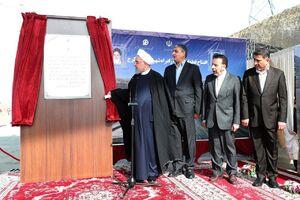 عکس/ افتتاح آزادراه همت-کرج با حضور روحانی