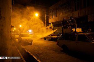 ضدعفونی معابر شهری توسط گروههای جهادی