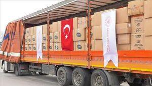 ارسال محموله کمکهای ترکیه به ایران