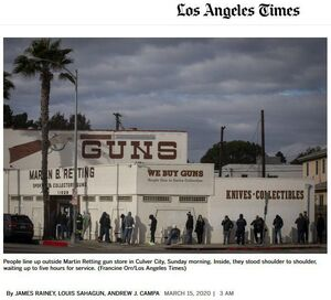 صفهای طولانی آمریکاییها جهت خرید اسلحه! +عکس