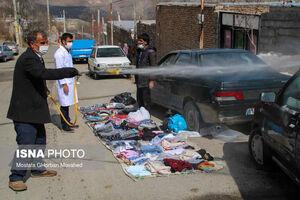 عکس/ عملیات غربالگری و ضدعفونی در ارسباران