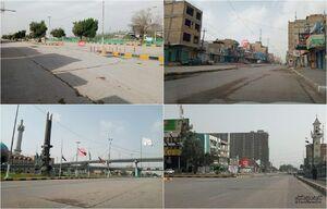 عکس/ خیابانهای خلوت نجف اشرف