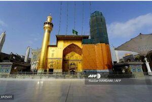 عکس/ سکوت در حوالی حرم امام علی