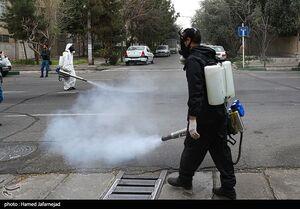 عکس/ عملیات ضدعفونی ادارات و معابر عمومی محله نبرد
