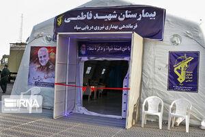عکس/ افتتاح بیمارستان صحرایی سپاه در بندرعباس