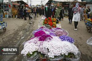 عکس/ سایه کرونا بر سر بازار گل