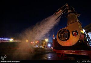 ضدعفونی معابر با تجهیزات جدید آتش نشانی
