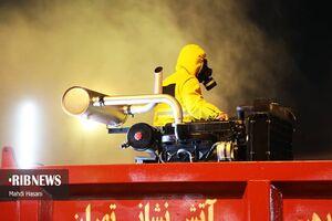 عکس/ تجهیزات جدید آتش نشانی پایتخت در ضدعفونی