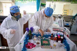 عکس/ حالوهوای تحویل سال نو در بیمارستان بقیهالله(عج)
