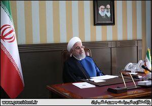 عکس/ اولین روز کاری روحانی در سال 99