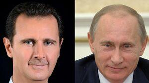 پوتین بشار اسد نمایه