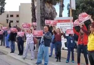 فیلم/ اعتراض کرونایی پرستاران سانفرانسیسکو