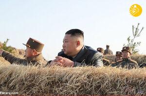 "عکس/ آتشبازی ارتش کرهشمالی در مقابل ""اون"""