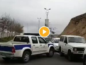 غربالگری مسافران در ورودی تهران به لواسان +فیلم