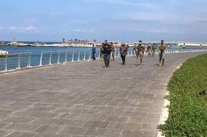 عکس/ کرونا ارتش لبنان را به خیابان ها کشاند