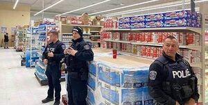 آیا در غرب برای توزیع دستمال به پلیس متوسل شدند؟/ ماجرای عکسی که روحانی به آن اشاره کرد