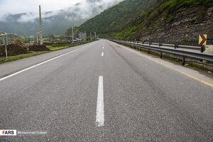 عکس/ جادههای شمال در روزهای کرونایی