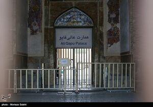عکس/ تعطیلی اماکن تاریخی اصفهان به دلیل شیوع کرونا
