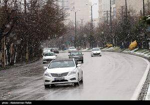فیلم/ بارش برف صبح بهاری در تهران