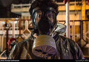 عکس/ ضدعفونی معابر تهران توسط یگان فاتحین