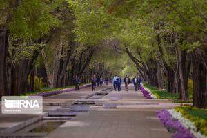 عکس/ سایه کرونا بر روی چهارباغ اصفهان