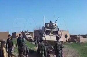 مردم در شمال شرق سوریه نظامیان آمریکایی را وادار به عقبنشینی کردند