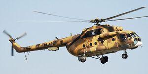 قوع حادثه برای یک فروند بالگرد هوانیروز سپاه