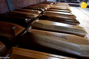تصاویری از دفن اجساد مبتلایان به کرونا در ایتالیا