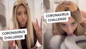 چالش لیسیدن توالت فرنگی در انگلیس همزمان با شیوع کرونا+ عکس