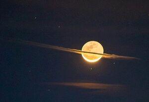 تصویری شگفت انگیز از کره ماه