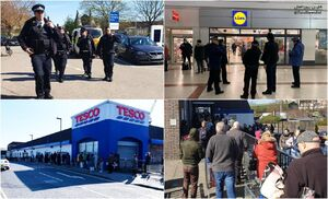 پلیس انگلیس در فروشگاهها مستقر شد