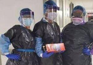 پرستارانی مجبورند کیسه زباله بپوشند!