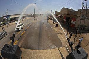 ضدعفونی خیابانهای بصره