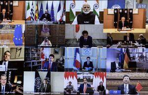 عکس/ نشست مجازی کشورهای عضو «گروه٢٠»