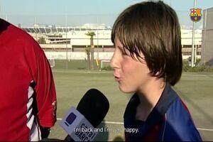 اولین مصاحبه مسی در ۱۳ سالگی +عکس
