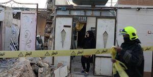 انفجار در ساختمان دو طبقه قدیمی/فوت مرد 70 ساله