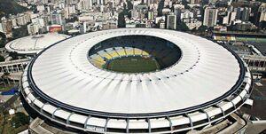 عکس/ تبدیل استادیوم تاریخی به بیمارستان کرونایی