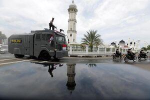 ضدعفونی خیابان های اندونزی