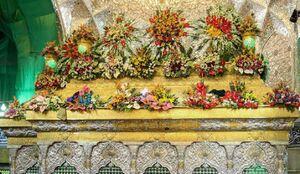گل آرایی حرم مطهر امام حسین