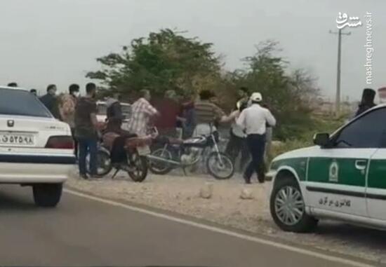 فیلم/ درگیری با پلیس در حین انجام وظیفه در دهلران