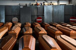 تابوتهای قربانیان کرونا در ایتالیا