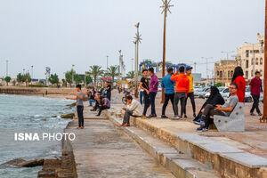 عکس/ ساحل مملو از جمعیت