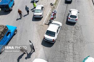 عکس/ بستن ورودی شهرها و کنترل تردد