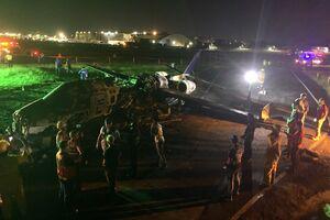 سقوط هواپیمای حامل بیمار مبتلا به کرونا در فیلیپین +فیلم