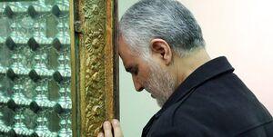 عکس/ دستخط حاج قاسم سلیمانی به مناسبت عید فطر
